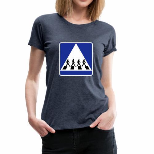 Övergångsställe - Premium-T-shirt dam