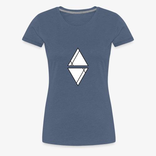 Logo Schwarz mit weißer Füllung - Frauen Premium T-Shirt