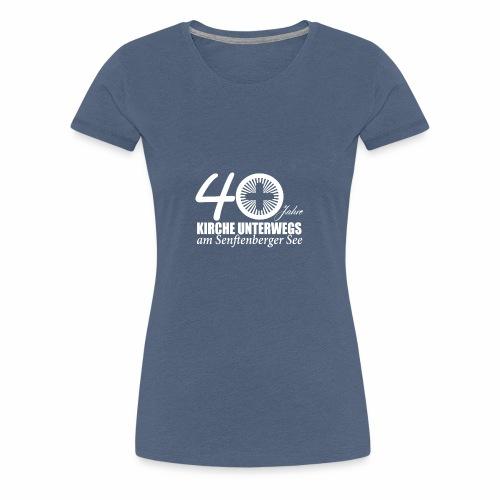 KU Shirt front 4 white - Frauen Premium T-Shirt