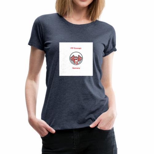 FIT Concept Germany Logo+Beschriftung - Frauen Premium T-Shirt