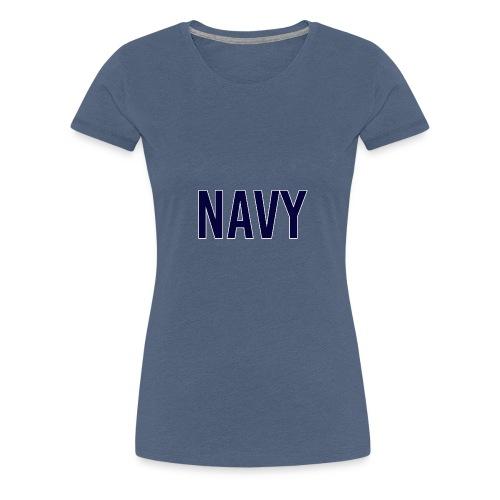 NAVY - Navy Blue - Women's Premium T-Shirt