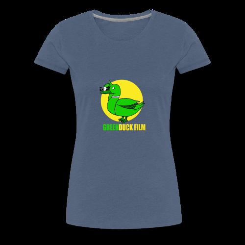 Greenduck Film In the Sun Logo - Dame premium T-shirt
