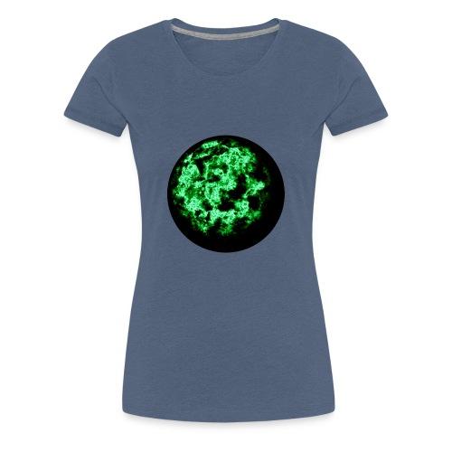 Grüne Feuerkugel - Frauen Premium T-Shirt