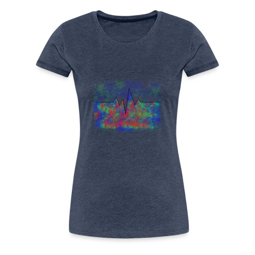 Herzfrequenz - Frauen Premium T-Shirt