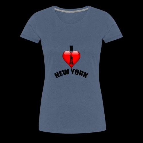 I love New York mit Herz - Frauen Premium T-Shirt