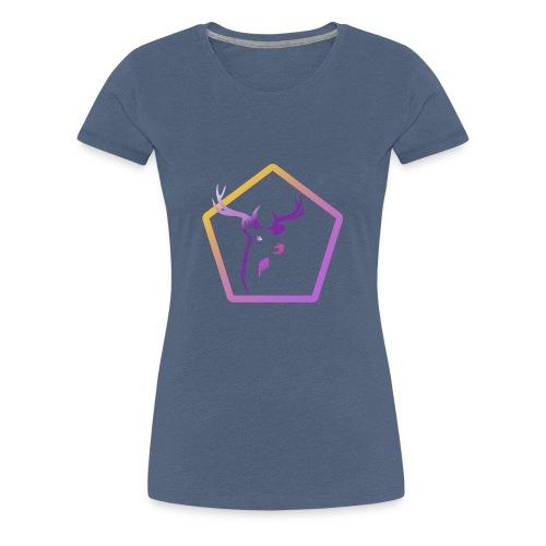 Cerf Pentagone - T-shirt Premium Femme