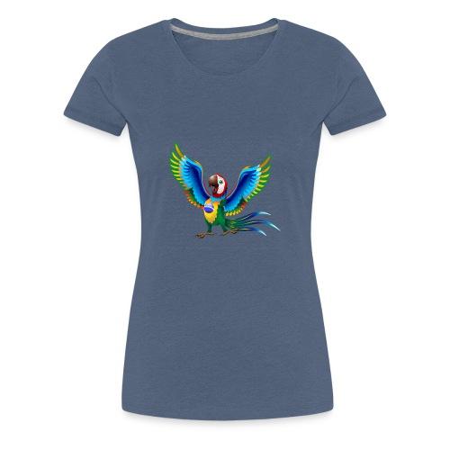 Brazil Flag Papagei - Frauen Premium T-Shirt