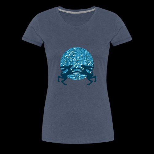 Hares : Once in a blue moon - Women's Premium T-Shirt