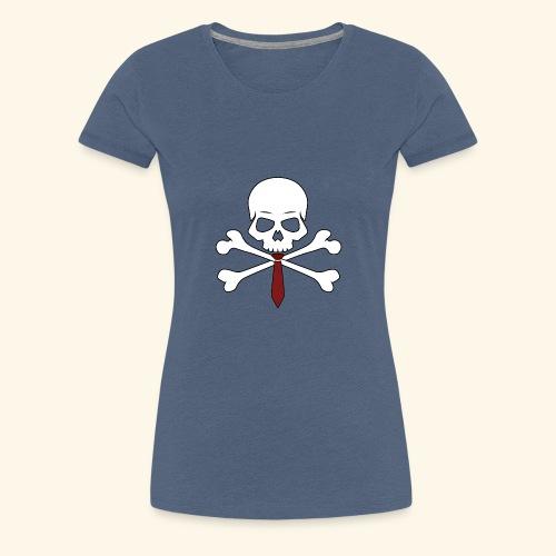 Totenkopf mit Krawatte - Frauen Premium T-Shirt