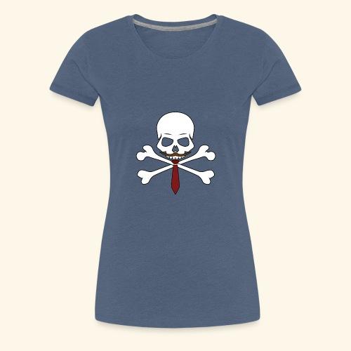 Realistischer Totenkopf mit Bart - Frauen Premium T-Shirt