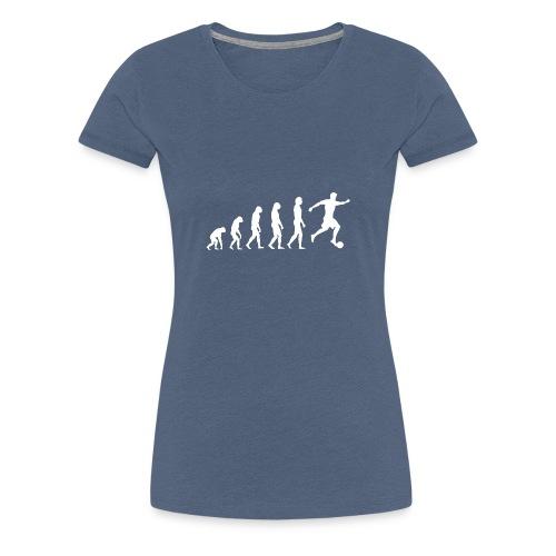 fußball evolution - Frauen Premium T-Shirt