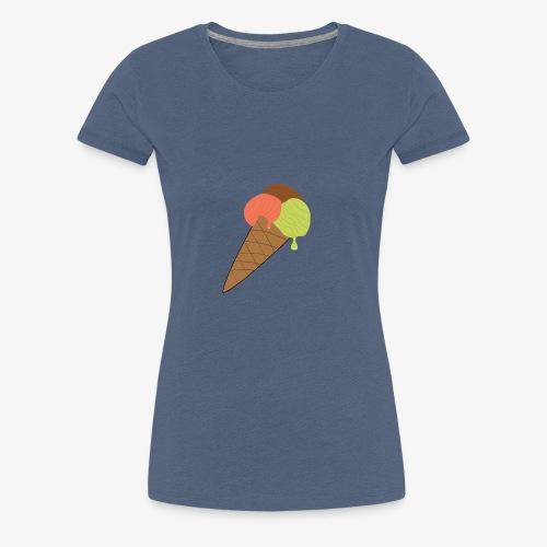 Eistüte - Frauen Premium T-Shirt