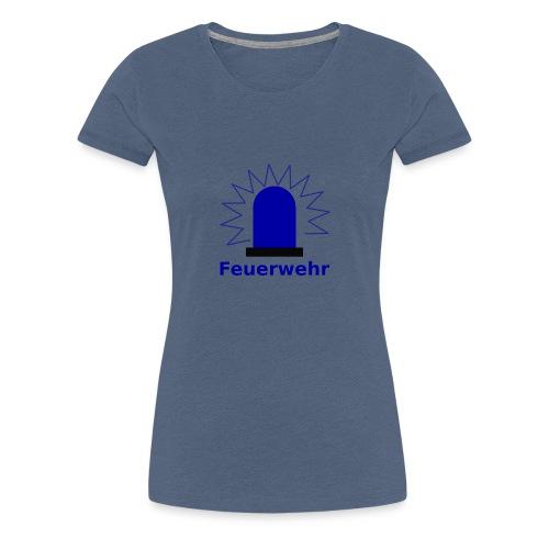 Blaulicht Feuerwehr - Frauen Premium T-Shirt