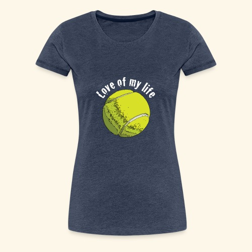 tennislove2 - Frauen Premium T-Shirt