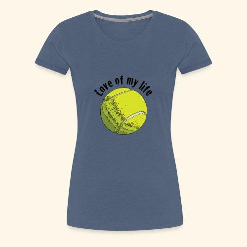 tennislove1 - Frauen Premium T-Shirt