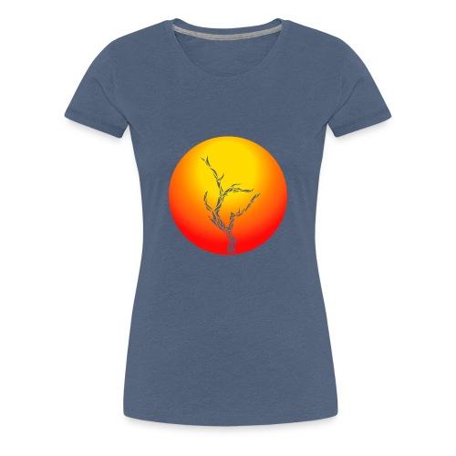 Baum in der Wüste - Frauen Premium T-Shirt