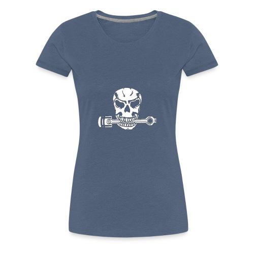 Weiß kolbenfresser - Frauen Premium T-Shirt