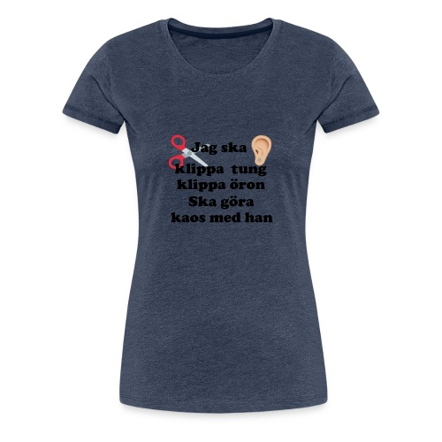KLIPPAÖRON - Premium-T-shirt dam