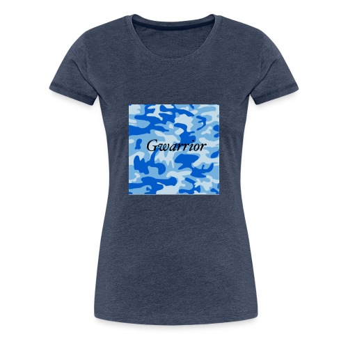 GWARRIOR BLUE CAMMO TSHIRT - Women's Premium T-Shirt