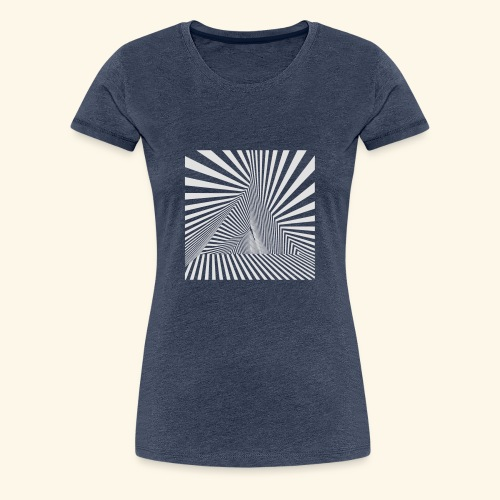 Pyramiden Dimension Vektor T-Shirt - Frauen Premium T-Shirt