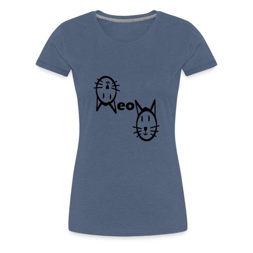 Moew Katzengesicht Geschenk Geschenkidee Katze - Frauen Premium T-Shirt