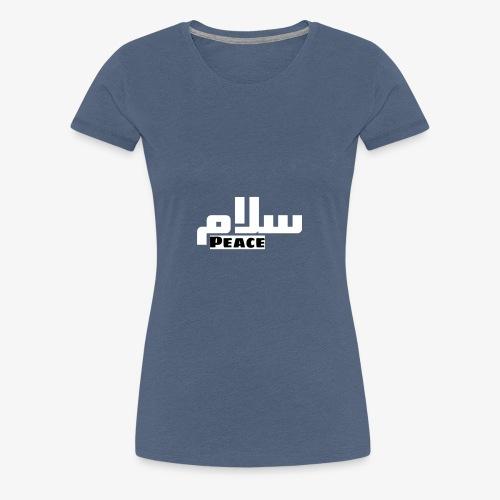 Peace 🕊 ☮ سلام arabic t-shirt - Frauen Premium T-Shirt