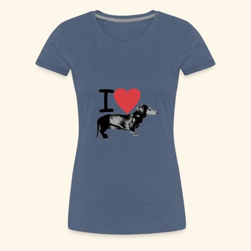 Pakopaka - I Love Dachshunds - Frauen Premium T-Shirt