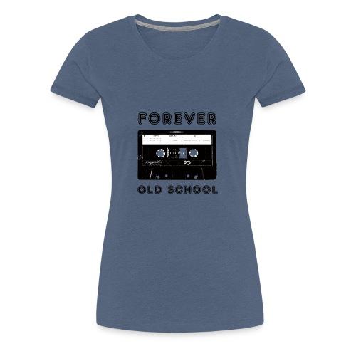 Kassette Recorder Old School Forever Logo Design - Frauen Premium T-Shirt