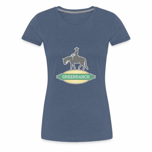 Greenranch Logo mit weissem Rand - Frauen Premium T-Shirt