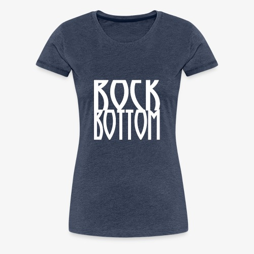Rock Bottom Logo Large - Dame premium T-shirt