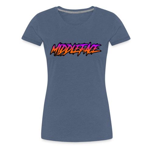 Middleface Logo - Orange and Purple - Women's Premium T-Shirt