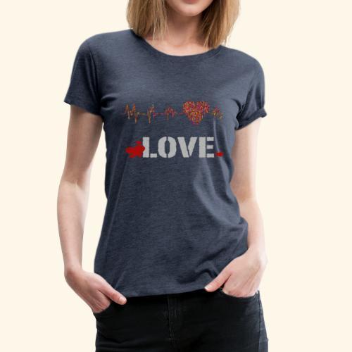 love herzfrequenz - Frauen Premium T-Shirt