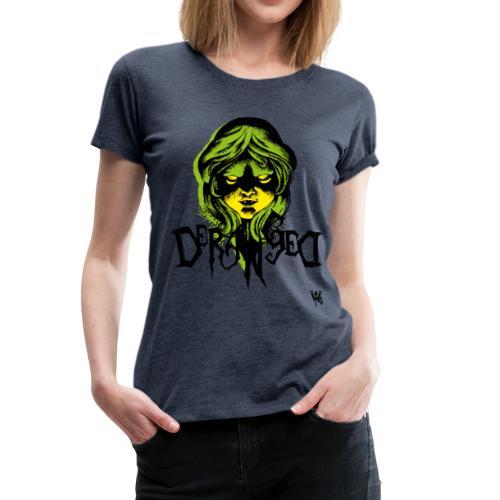 DerangeD - Tattoo Metal Horror Vampire - Dame premium T-shirt