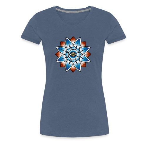 Psychedelisches Mandala mit Auge - Frauen Premium T-Shirt