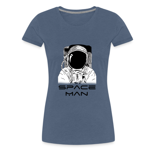 Space man black - Women's Premium T-Shirt