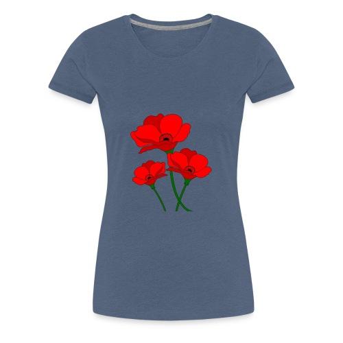 papaveri rossi - Maglietta Premium da donna