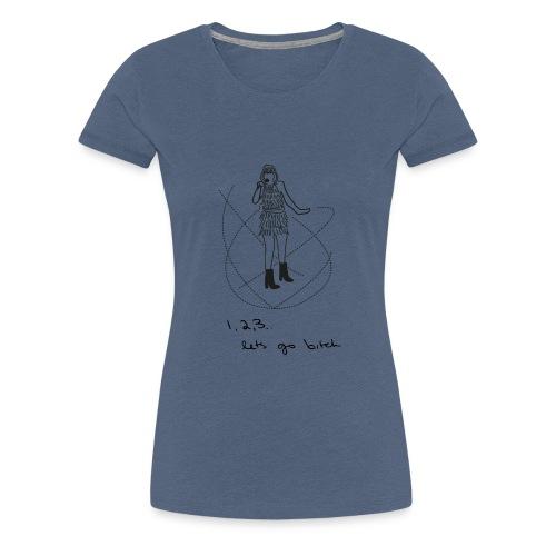 isn't it delicate - Vrouwen Premium T-shirt