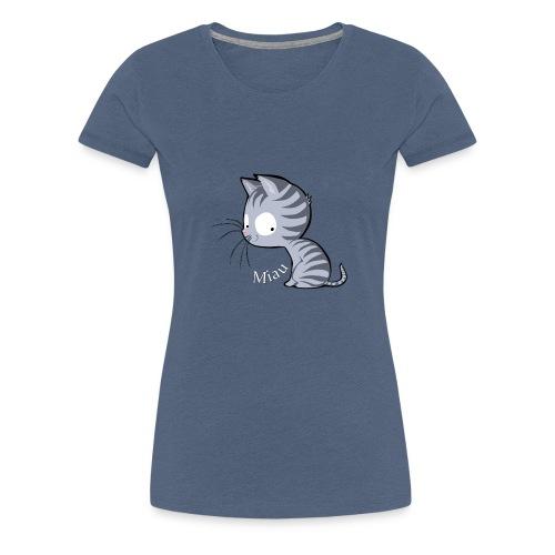 Tiger Katze Miau Shirt - Frauen Premium T-Shirt