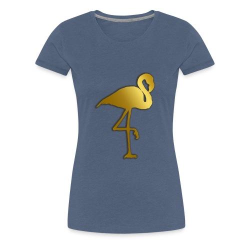 Goldener Flamingo - Frauen Premium T-Shirt
