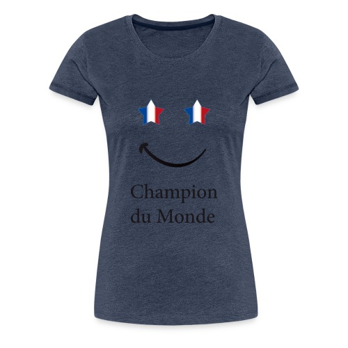 champion du monde bleu blanc rouge - T-shirt Premium Femme