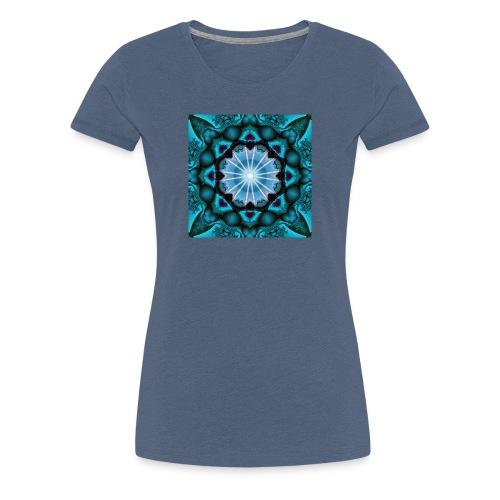 türkieses Fraktal - Frauen Premium T-Shirt