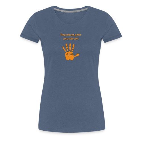 Tierschutz geht uns alle an - Frauen Premium T-Shirt