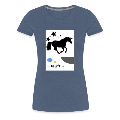Pferd läuft - Frauen Premium T-Shirt