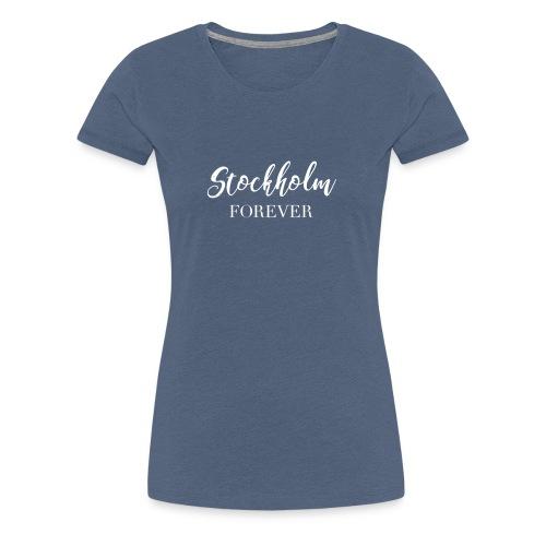 stockholm print white 01 - Premium-T-shirt dam