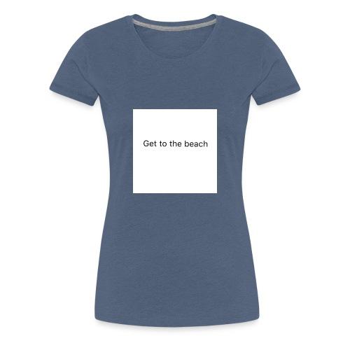 dog bandana get to the beach - Women's Premium T-Shirt