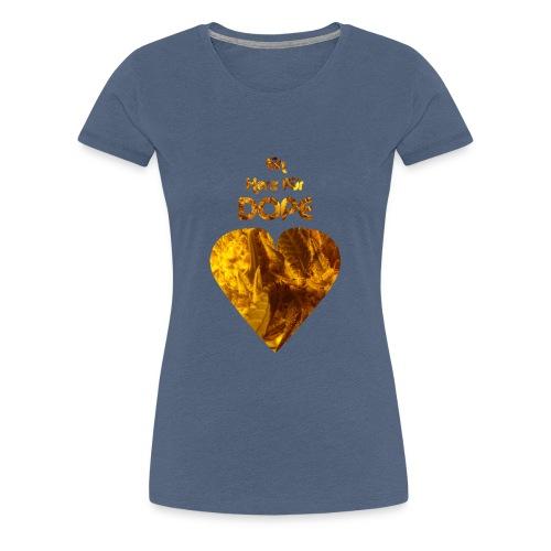 Ein Herz für Dope, Kiffer Shirt, Cannabis, Weed - Frauen Premium T-Shirt
