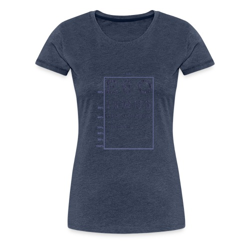 Egoismus Sehtest - Frauen Premium T-Shirt
