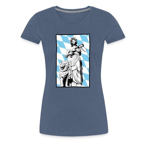 Bavaria am Weißbier schwoam - Frauen Premium T-Shirt
