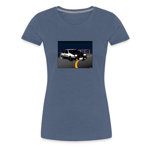 Initial D Drifting Akina - Vrouwen Premium T-shirt