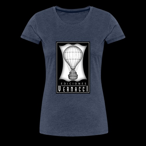 logotipo de ediciones Vernacci - Camiseta premium mujer